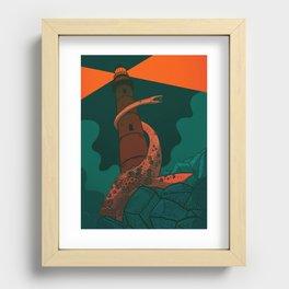 The Fog Horn Recessed Framed Print