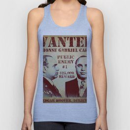 Al Capone FBI Wanted Poster Unisex Tank Top