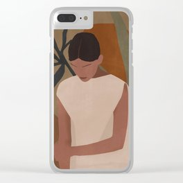 Tropical Girl 7 Clear iPhone Case