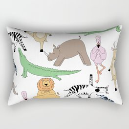 safari animal yoga Rectangular Pillow
