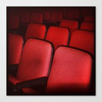 theatre Canvas Prints featuring Theatre Seats by ADH Graphic Design