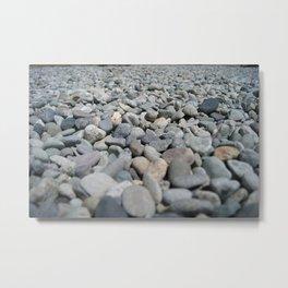 Stones at the Lake Metal Print