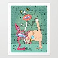 Aaahh!!! Real Monsters Art Print