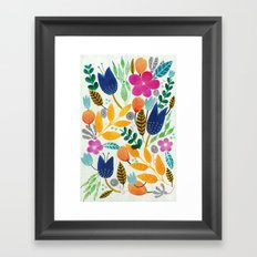 Flower Mayhem Framed Art Print