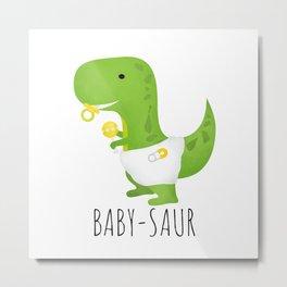Baby-saur Metal Print