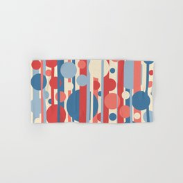 Stripes and circles color mode #3 Hand & Bath Towel