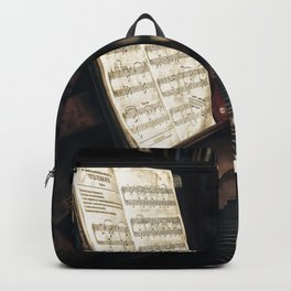 Music. The piano lesson. Backpack