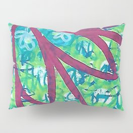 Red flower grafitti Pillow Sham