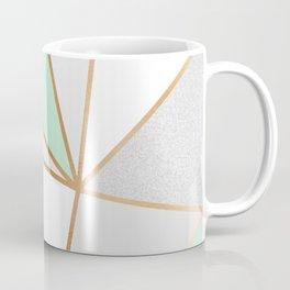 Mint Green, Grey & Gold Geo Kaffeebecher