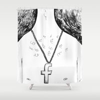 religion Shower Curtains featuring Fashionable religion by IvaDim