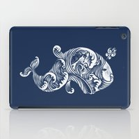 dick iPad Cases featuring The White Whale  by Peter Kramar