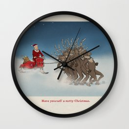 Nutty Christmas Wall Clock