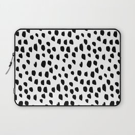 Hand drawn drops and dots on white - Mix & Match with Simplicty of life Laptop Sleeve