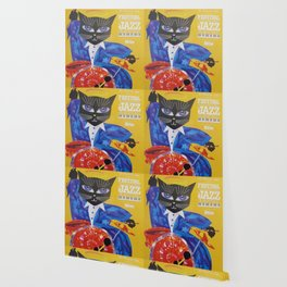 1994 Montreal Jazz Festival Cool Cat Poster No. 3 Gig Advertisement Wallpaper