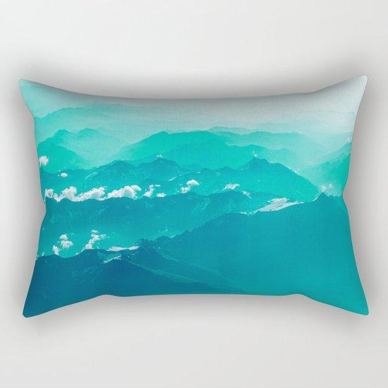 Mountain Waves Rectangular Pillow