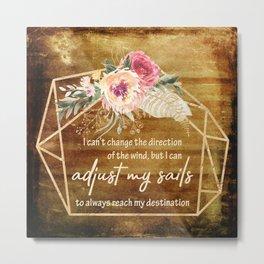 Adjust my sails Metal Print