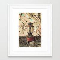 lantern Framed Art Prints featuring Lantern by Shaun Lowe