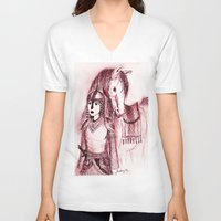 narnia V-neck T-shirts featuring Tarkheena by Belay