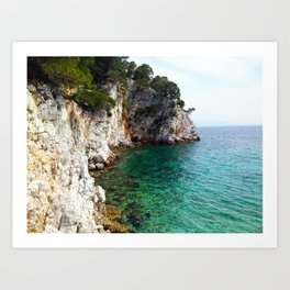 Skopelos Sea Art Print