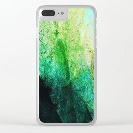 STORMY MINT AND GREEN v2 Clear iPhone Case
