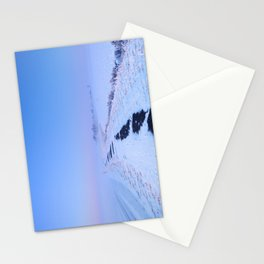 III -  Lake and dike at sunrise in winter in The Netherlands Stationery Cards