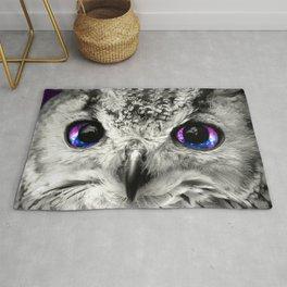 Galaxy Owl Eyes Rug