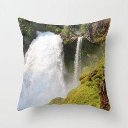 Sahalie Falls Throw Pillow