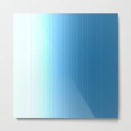 Seafoam Blue Ombre Metal Print