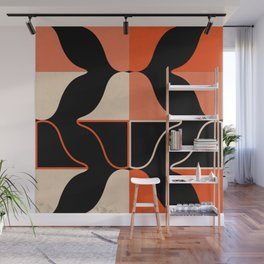 Mid Waves Sunset Wall Mural