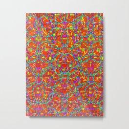 Verre Colore Pattern Metal Print