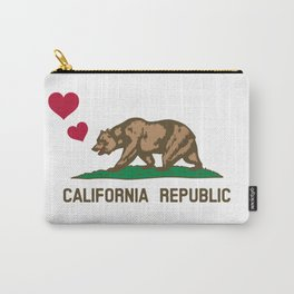 California Republic Bear with Hearts Carry-All Pouch