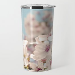 Spring, Flower Photography, Pastel, Pink, Romantic Cherry Blossom, Art Deco - 8 x 10 Wall Decor Travel Mug