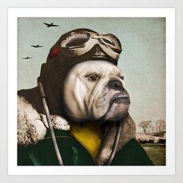 "Wing Commander, Benton ""Bulldog"" Bailey of the RAF Art Print"