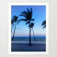 Palms in the Wind Art Print