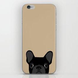 French Bulldog - Black on Tan iPhone Skin
