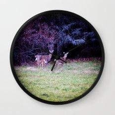The Dear Deer Family Wall Clock