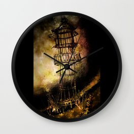 Lonely Lighthouse Wall Clock