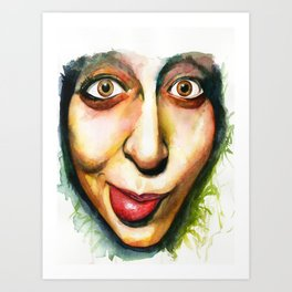 Audrey. Art Print