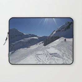 Up here, with sun and snow Laptop Sleeve