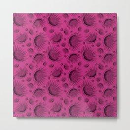 Wine and Fuchsia Waratah - Australian Wild flower Metal Print