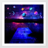 universe Art Prints featuring Universe by haroulita
