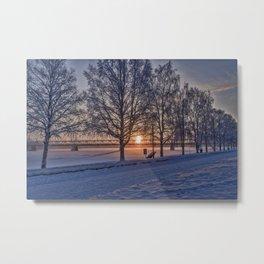 Sunset in Rovaniemi. Metal Print