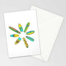 Retro Surfboard Flower Power Stationery Cards