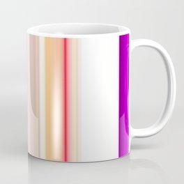 purple white pink black striped pattern Coffee Mug