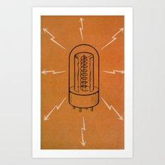 Vintage Vacuum Tube Art Print