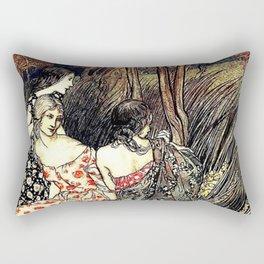 The Flowery Naiades By Arthur Rackham Rectangular Pillow