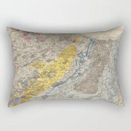 Vintage Geological Map of Edinburgh Scotland (1883) Rectangular Pillow