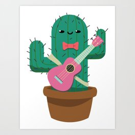 The friendly prickly cactus Art Print