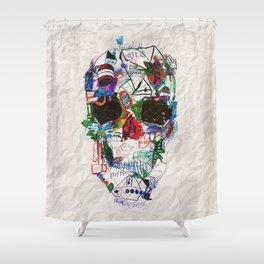 Ruzgars Skull Shower Curtain