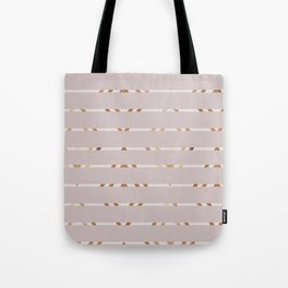 Girly faux gold pink abstract geometrical pattern Tote Bag